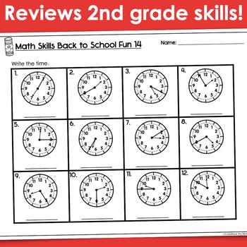 3rd Grade Math Skills- Back to School (Printables)