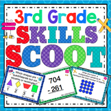 3rd Grade Math: 3rd Grade Math Skills Scoot Mega Bundle