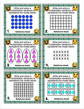 3rd Grade Math Skills Scoot - Emoji Themed Mega Math Bundle