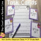3rd Grade Math Skip Count on a Number Line Task Cards