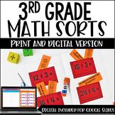 3rd Grade Math Sorts