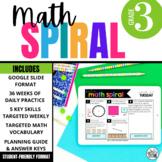 3rd Grade Math Spiral Review DIGITAL   Full Year