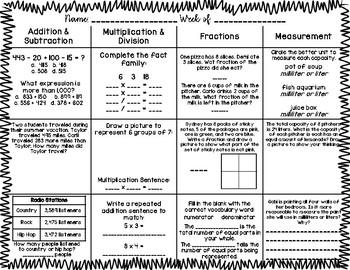 3rd Grade Math Spiral Review