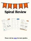 3rd Grade Math Spiral Review Back to 2nd Grade-SOL Aligned