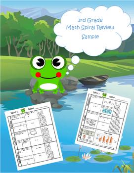 3rd Grade Math Spiral Review Free Sample (TEKS aligned)