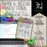3rd Grade Math Spiral Review Independent Work Packets