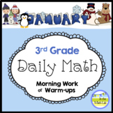 3rd Grade Math Spiral Review JANUARY Morning Work or Warm ups