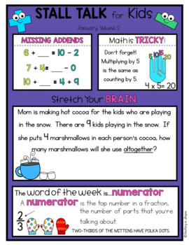 3rd Grade Math Spiral Review Posters- January Stall Talk