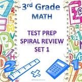 3rd Grade Math Spiral Review Set 1