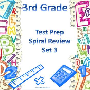 3rd Grade Math Spiral Review Set 3