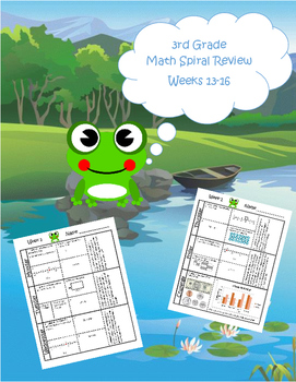 3rd Grade Math Spiral Review (TEKS aligned) Weeks 13-16