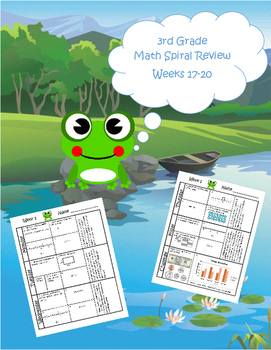 3rd Grade Math Spiral Review (TEKS aligned) Weeks 17-20