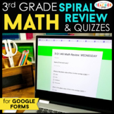 3rd Grade Math Spiral Review & Quizzes | Google Classroom | Distance Learning