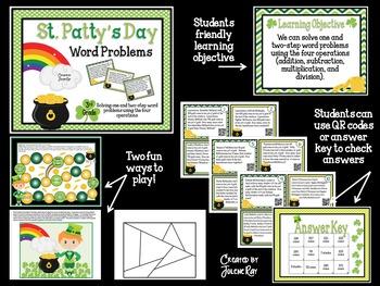 3rd Grade Math: St. Patty's Day Word Problems