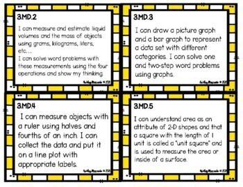 3rd Grade Math Standard Cards