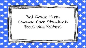 3rd Grade Math Standards on Blue Star Frame