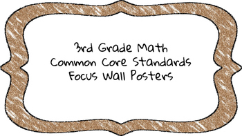 3rd Grade Math Standards on Brown Colored Frame