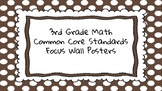 3rd Grade Math Standards on Brown Polka Dotted Frame