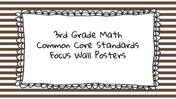 3rd Grade Math Standards on Brown Striped Frame