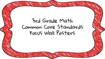 3rd Grade Math Standards on Red Colored Frame