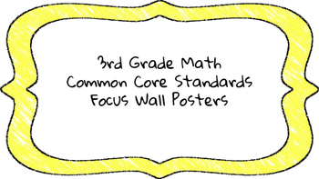 3rd Grade Math Standards on Yellow Colored Frame