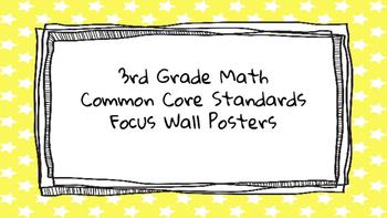 3rd Grade Math Standards on Yellow Star Frame