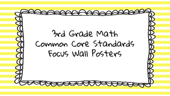 3rd Grade Math Standards on Yellow Striped Frame