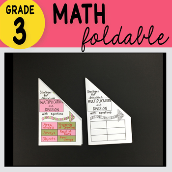 Doodle Notes - 3rd Grade Math Strategies Solving Mult. & Division w/ Equations