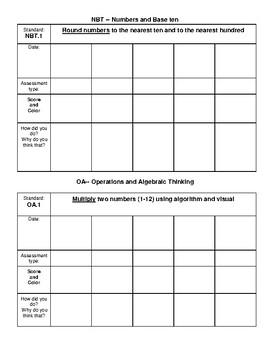 3rd Grade Math Student Data Notebook
