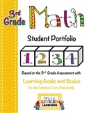 3rd Grade Math Student Portfolio Pages with Marzano Scales
