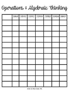 3rd Grade Math Student Tracking Charts