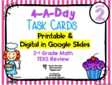 3rd Grade Math TEKS: 4 A Day Review Task Cards--Printable