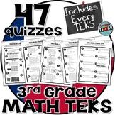 3rd Grade Math TEKS Assessments ✔Standards Based TEKS Assessment