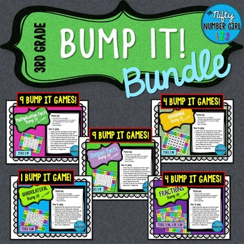 3rd Grade Math TEKS Bump It Bundle