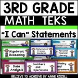 3rd Grade Math TEKS I CAN Statements