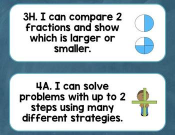 3rd Grade Math TEKS I Can Statements