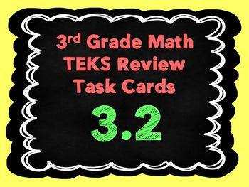 3rd Grade Math TEKS Review Task Cards- TEKS 3.2