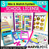 3rd Grade Math TEKS Site License: Games, Exit Slips, STAAR Review, Assessments