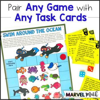 3rd Grade Math TEKS Bundle: Station Games,  STAAR Review, Common Assessments