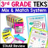 3rd Grade Math TEKS Bundle: Station Games,  STAAR Review,