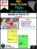 3rd Grade Math TEKS Texas Tornado: Daily Spiral Review BUNDLE