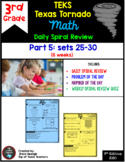 3rd Grade Math TEKS Texas Tornado:Daily Spiral Review & Qu