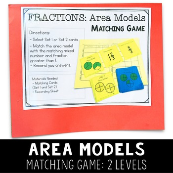 Third Grade Math Centers - Fractions - Set 3 - 3.F