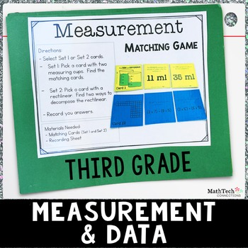 Third Grade Math Centers - Measurement and Data - Set 4 - 3.MD