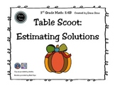 3rd Grade Math: Table Scoot Estimate Solutions (TEKS 3.4B)