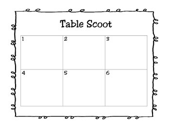 3rd Grade Math: Table Scoot Estimate Solutions (TEKS 3.4B)