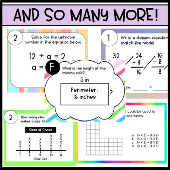 3rd Grade Math Task Card Bundle - 38 Sets and GROWING!