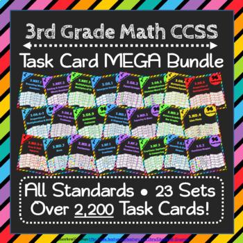3rd Grade Math Task Cards MEGA Bundle {Common-Core Aligned}
