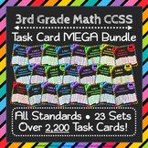 3rd Grade Math Task Cards MEGA Bundle {Common-Core Aligned}