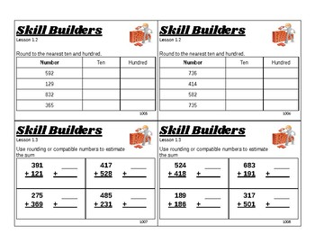 3rd Grade Math Task Cards: Aligned with GoMath Chapter 1